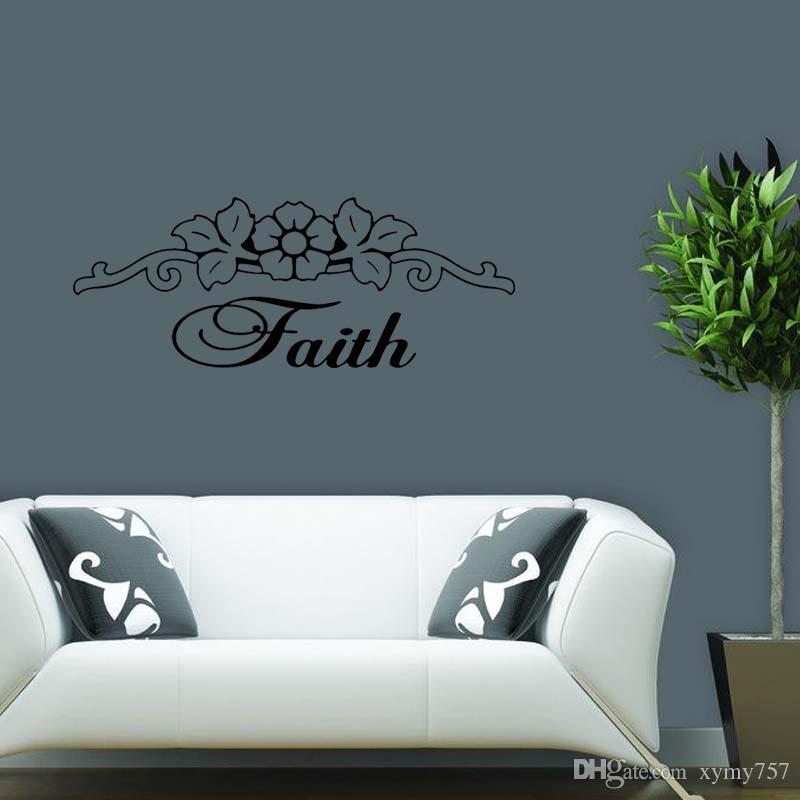 Hot Sale For Faith Vinyl Wall Art Decal Quote Words Lettering ...
