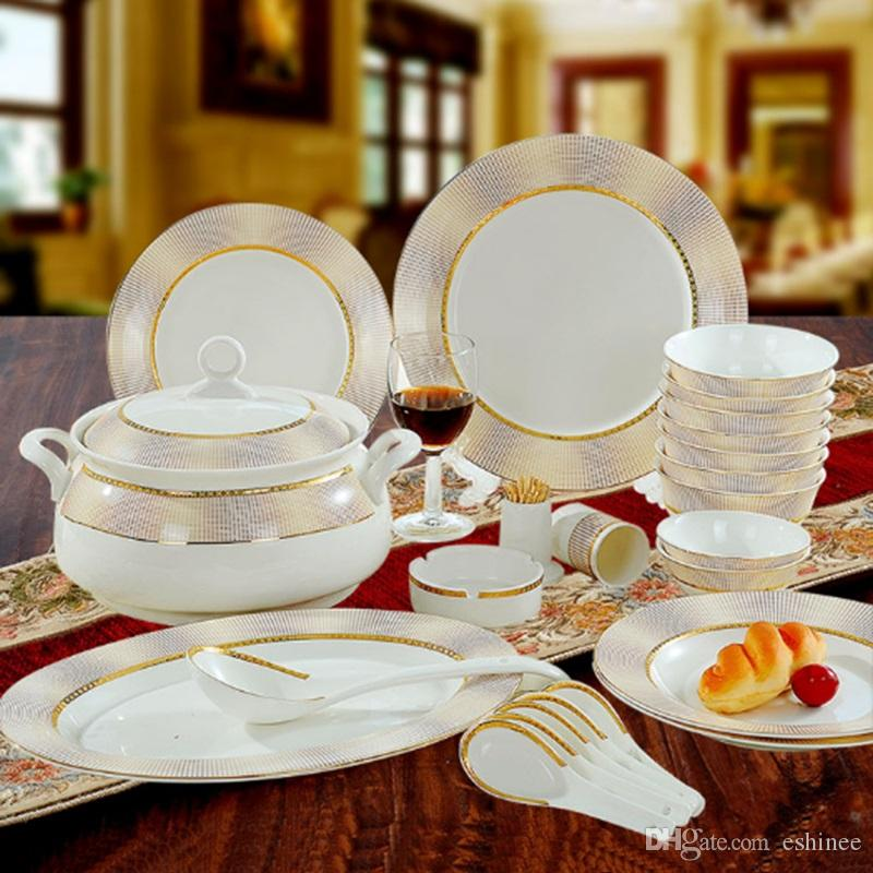 New Year Hot Sale Fine Bone China Dinnerware Sets Gifts Porcelain Elegant Dinnerware Sets Dinnerware Sets From Eshinee $125.63| Dhgate.Com : fine dinnerware sets - pezcame.com