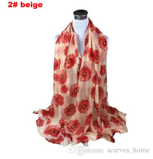 Factory Direct Sale Flower Print Voile Cotton Infinity Scarf Fashion Circle Scarf Large Size Long Scaves Women around Scarfs
