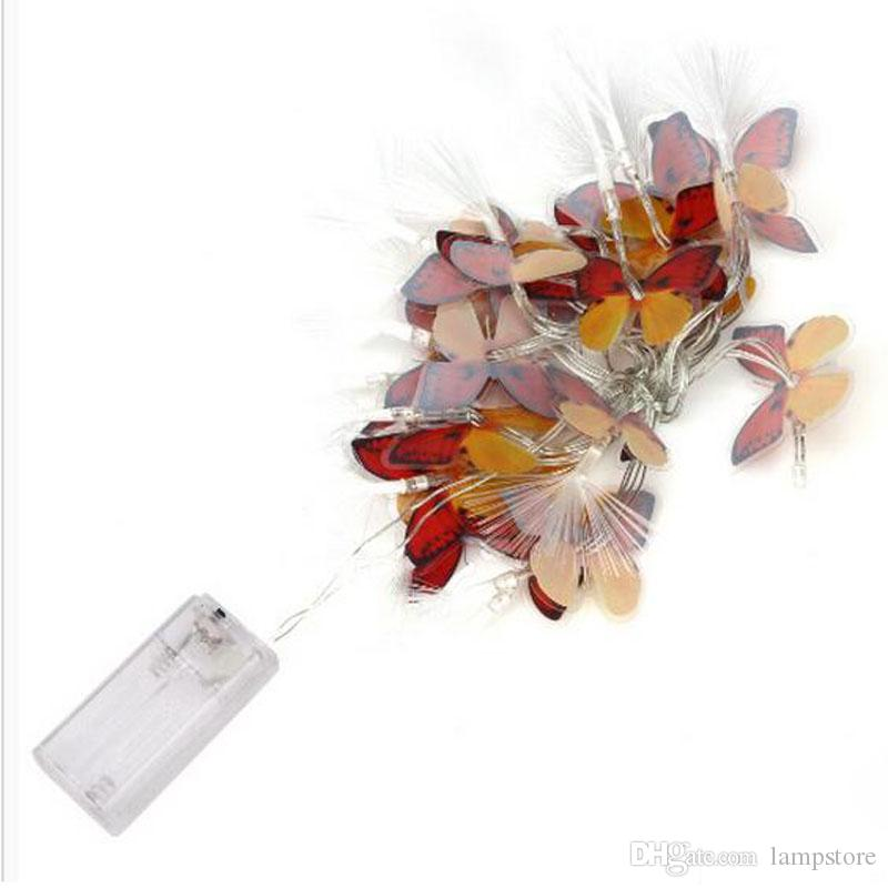 Butterfly LED Battery Box Light String Battery Christmas Light String LED Holiday Christmas Lantern
