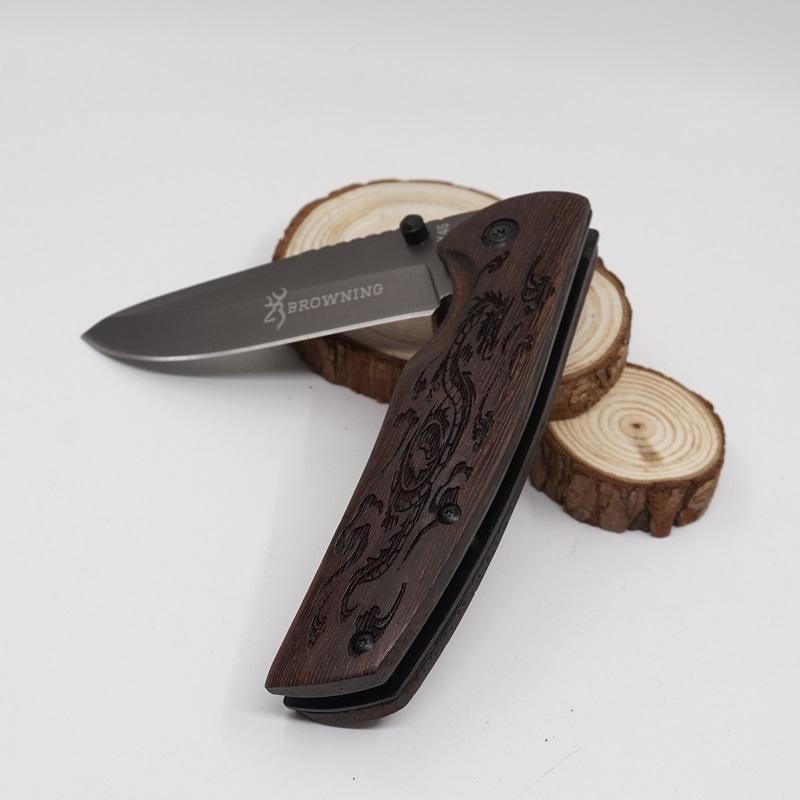 Browning X45 lame di sopravvivenza della lama piegante della tasca 3Cr13MoV della lama legno strumento maniglia di taglio lama tattica di caccia migliori strumenti gife