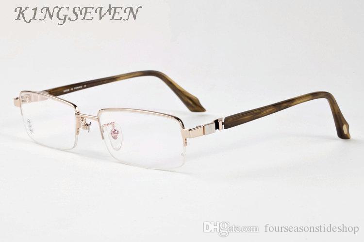 2020 نظارات شمسية نصف قرن الجاموس إطار نظارات النظارات الشمسية أزياء للنظارات الرجال جودة عالية مع مربع العدسات واضحة هلالية