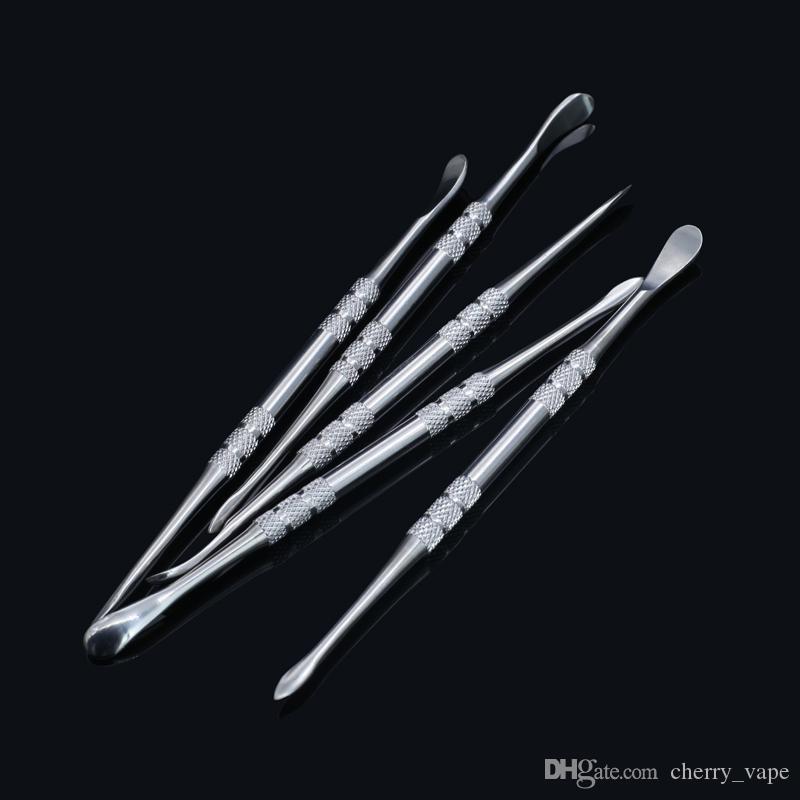 Acero inoxidable Dab Tool Titanium Nail Dabber Cera Dabbing nail 121mm Dry Ego Dry Herb Dab Tool