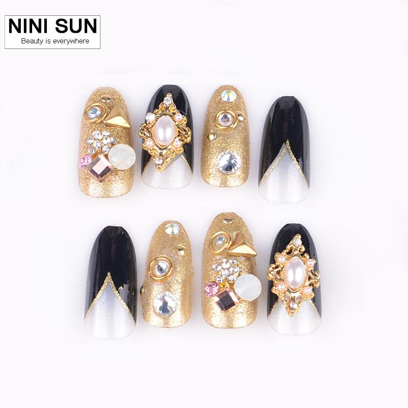 Wholesale Hot 3d Flash Diamond False Nail Fashion Nail Art For ...