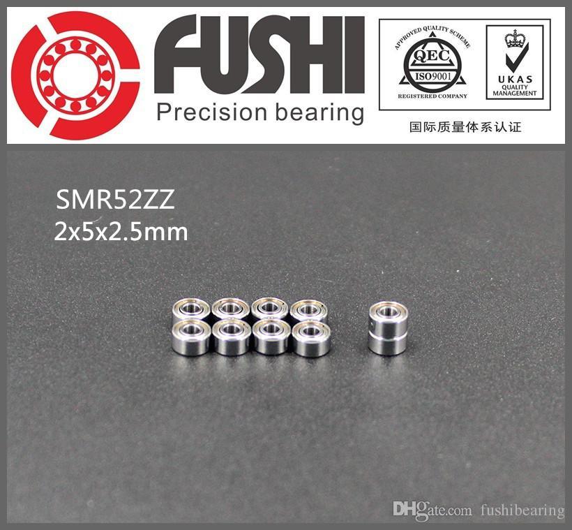 1 pc 2x5x2.5mm ABEC-7 SMR52 ZZ - 440C Stainless Steel Radial Ball Bearing