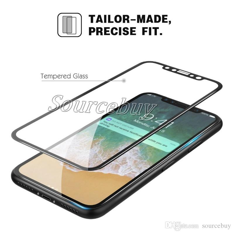 New 9H Hardness Temper Glass For Iphone X Crystal Clear Premium Full Cover Hard Edge Tempered Screen Protector For iphoneX with Retail Box