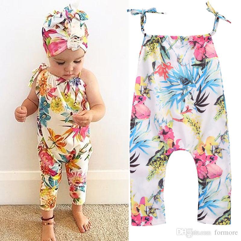 Sommer Baby Mädchen einteilige Overall Sleeveless Floral Strampler Baby Kleidung Kleinkind Mädchen Kleidung Bebes Roupas Menina