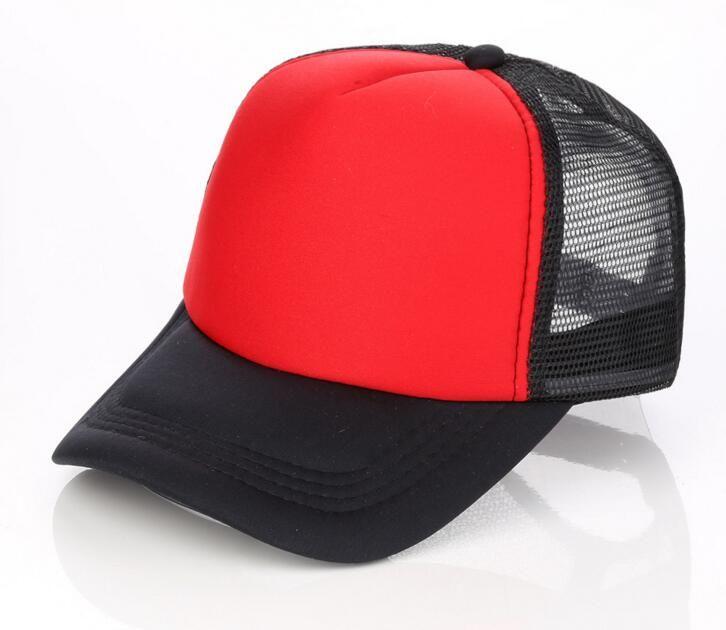 Cheap Blank Trucker Mesh Hat Spring Summer Snapback Baseball Cap for Men Plain Foam Net Snap Back Baseball Caps for Women Wholesale
