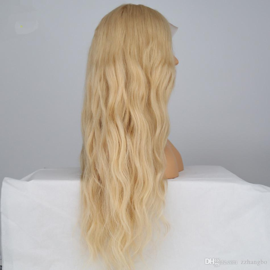 FULL LACE WIGS Wigs Layer pressure Straight Blonde Wig Silky Hair 100% Wigs Series # 613 Cheaper Brazilian Girls Straight Fashionable Woman