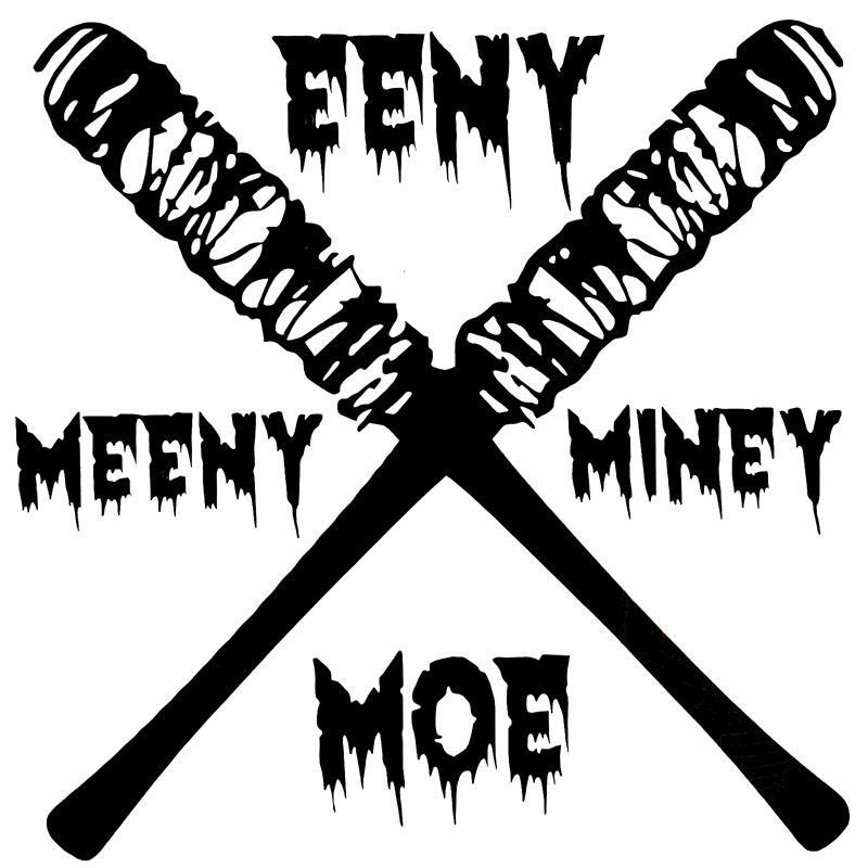 2019 16cm16cm Fashion Negan Eeny Meeny Miny Moe Zombies Car Sticker
