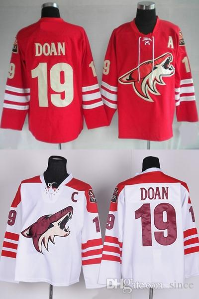 47409ff2d 2019 Factory Outlet Mens Cheap Phoenix Coyotes 19 Shane Doan Red White  Black New Style Stitched Full Embroidery Logos Ice Hockey Jerseys From  Since