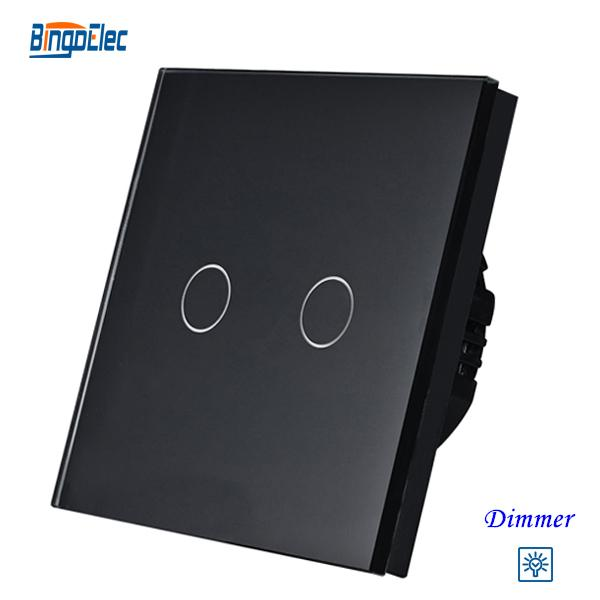Wholesale 2gang Dimmer Light Switch 2gang1way Touch Sensor
