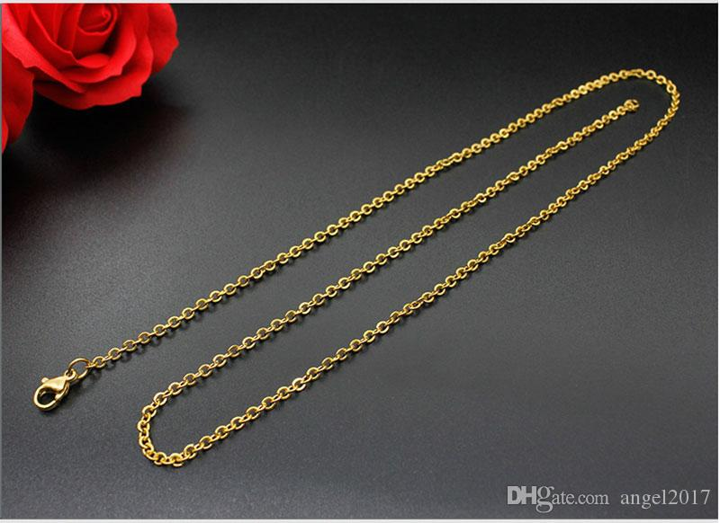 Steel factory stainless steel necklace gold plated titanium jewelry wholesale fashion simple Korean version of the necklace female rose gold