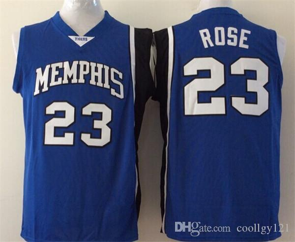 6ee8473f ... 2017 23 Derrick Rose Jerseys Cheap College Jersey Memphis Tigers Shirt  Uniform Rev 30 New Material ...