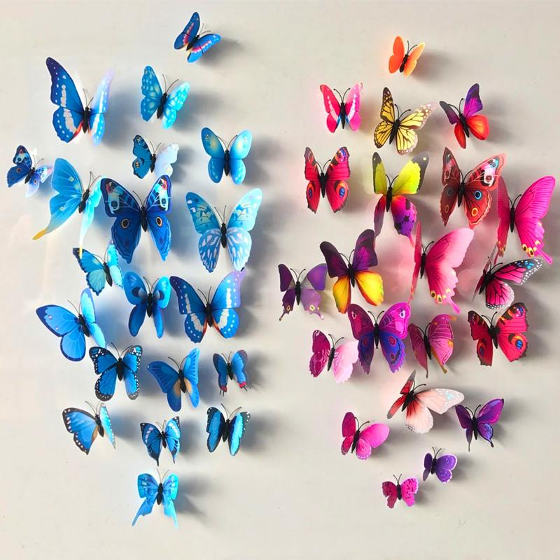 Wholesale Pvc D Diy Butterfly Wall Stickers Home Decor Poster For - Butterfly wall decals 3dpvc d diy butterfly wall stickers home decor poster for kitchen