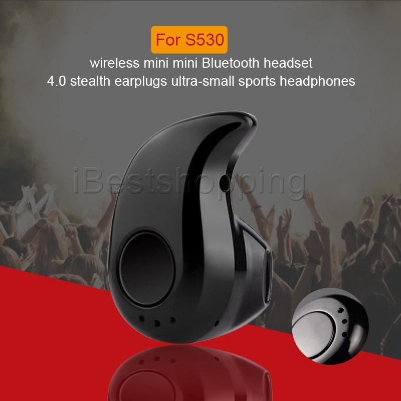 마이크 및 제품과 함께 보편적 인 S530 미니 무선 블루투스 4.0 이어폰 스테레오 스포츠 헤드폰 스텔스 헤드셋 이어폰