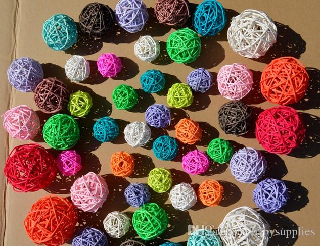 hot sale 3cm birthday party decor Wedding decoration Rattan Ball,Christmas Decor Home Ornament Home Decoration