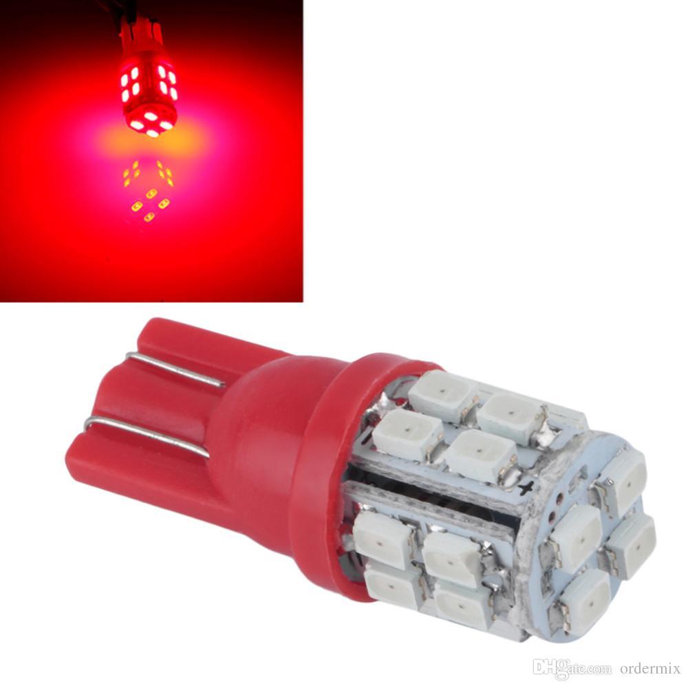 Lampadina T10 20 SMD 1206 LED Blue Super Bright Xenon auto rossa / bianca
