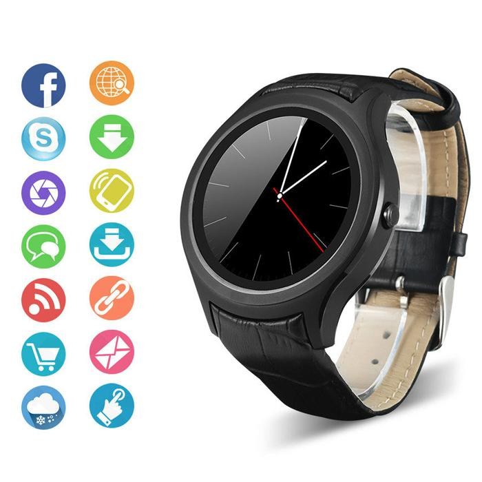 X3 Smartwatch Bluetooth Smart Wrist Watch MTK6261D Luxury Leather Watchband for Android Monitor Mp3/Mp4 Sim Card Smartphone