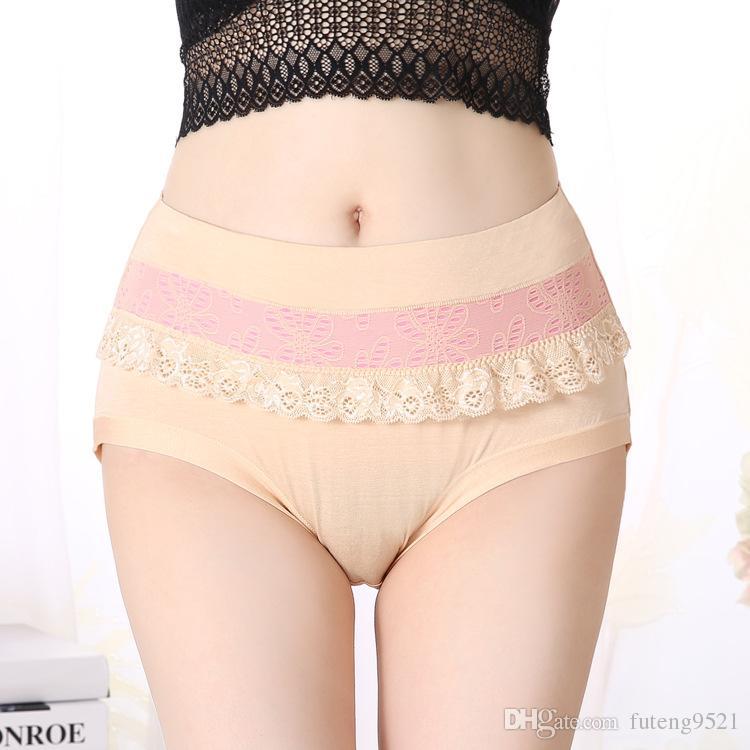 f44804868b85 2019 Modal Fabric Panties Large Size High Waist Pure Color Briefs Women  Underwear XL Size Undies X Large Hiphuggers For Women From Futeng9521, ...