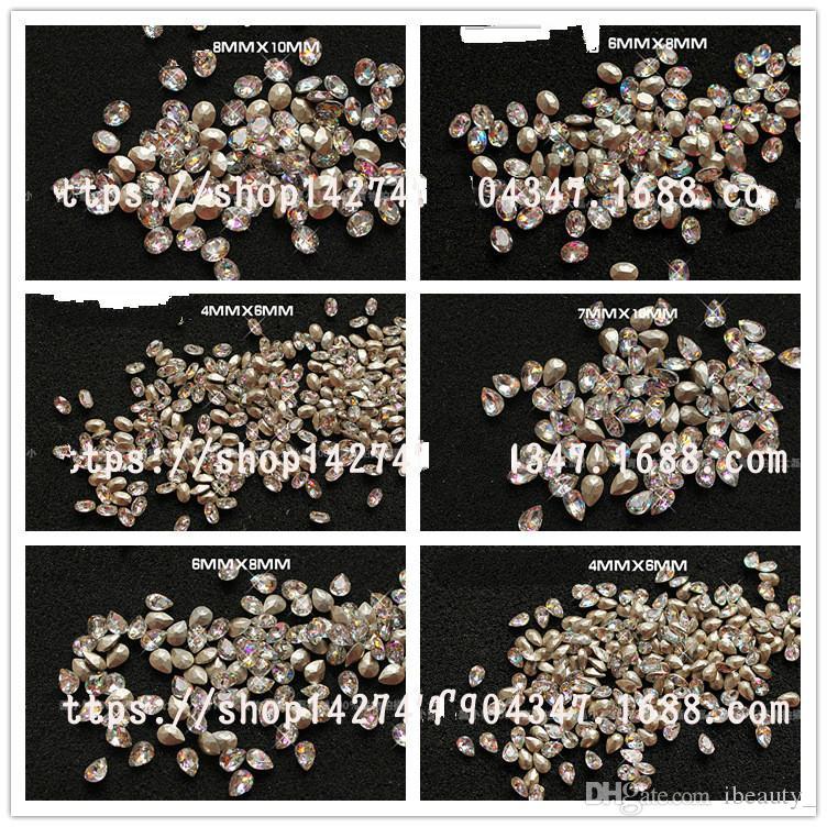 18 stili 3D di arte del chiodo delle decorazioni Rhinestones di scintillio di vetro Fiamma