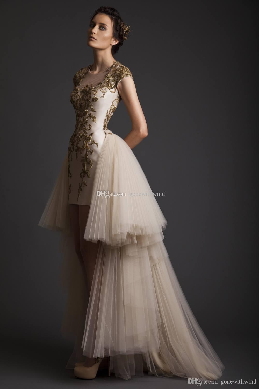 Compre Arab Dubai Blanco Overskirt Vestido De Fiesta Vestidos De ...