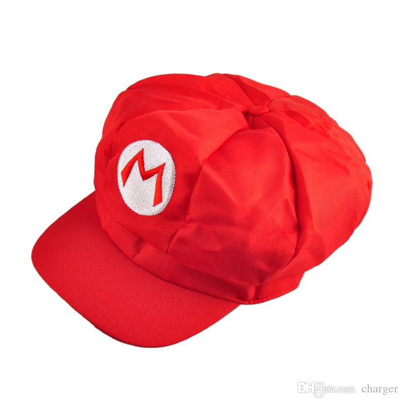 4745a13148a 2019 Lovely Beautiful Luigi Super Mario Bros Anime Cosplay Adult Hat Elastic  At The Back Cap 1904024 From Charger