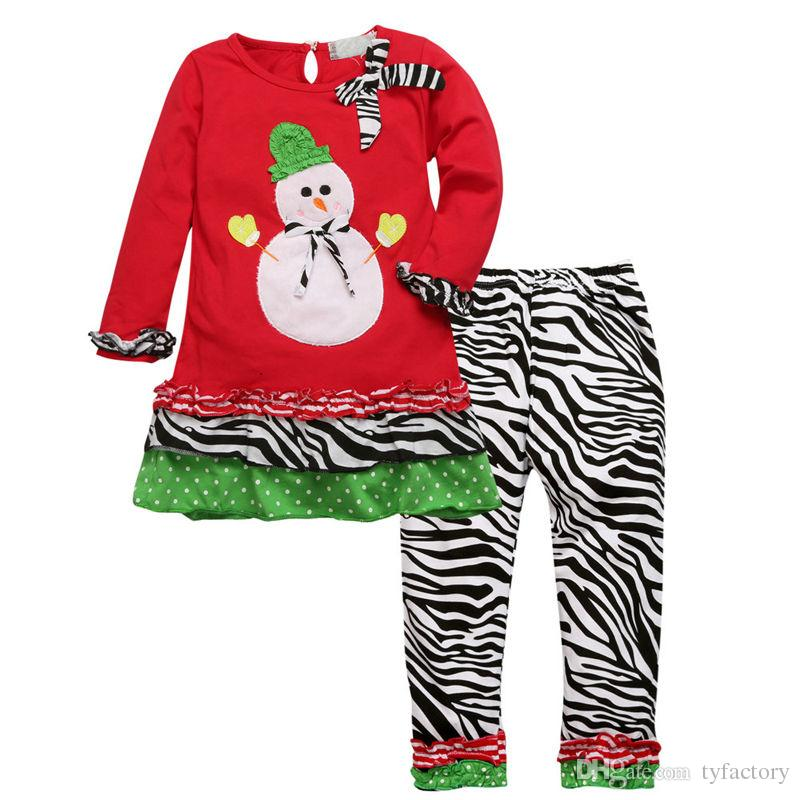 kids christmas sleepwear children clothing boys suits girls cotton snowman stripe XMAS Shirt Tops + Pants Pajamas santas Set helper Outfits