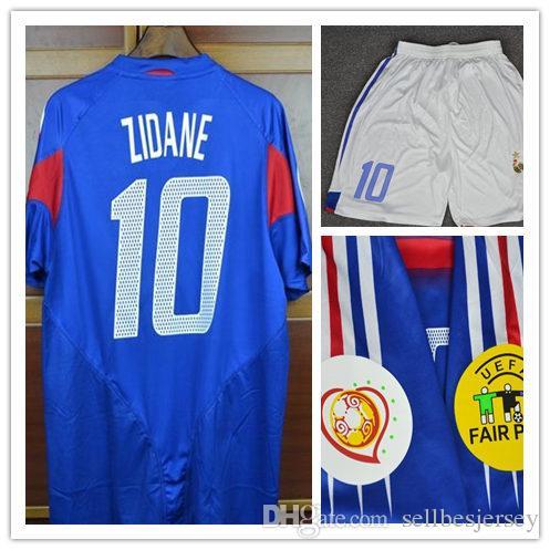 e4cefd9a9 Retro Jersey 2004 Zidane  Henry  Trezeguet Shirt Soccer Jersey Retro Jerseys  2004 Zidane Jersey Zidane Retro Jersey Online with  45.41 Piece on ...