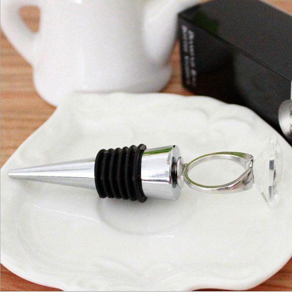 / Maison Pratique Partie Favor Cristal Diamant Anneau Bouchon De Vin Douche De Mariée Baptême De Mariage Faveur De Faveur Cadeaux # 001