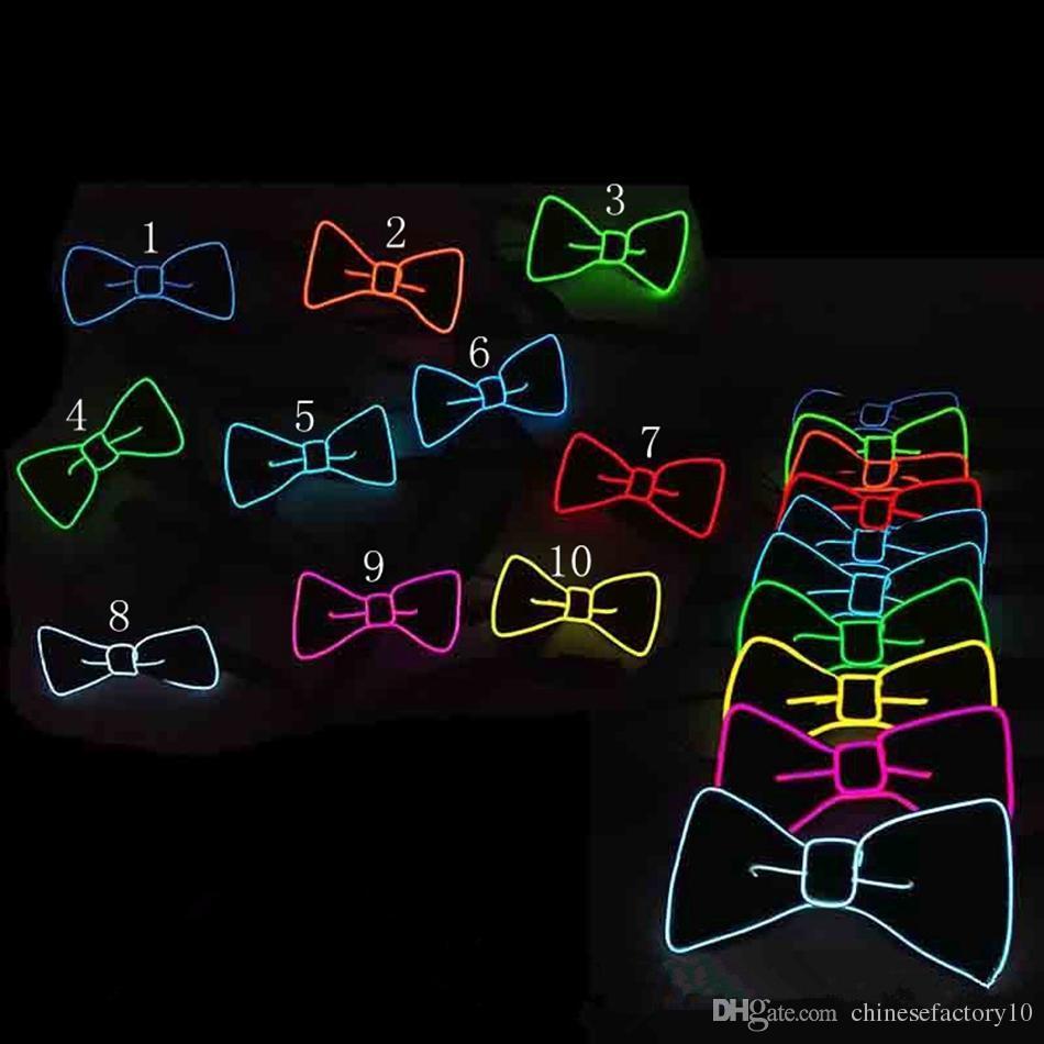 Coole Led Fliege Glowing Neck Tie Dj Bar Club Abend Party Halloween Festival Fliege El Wire Leuchten