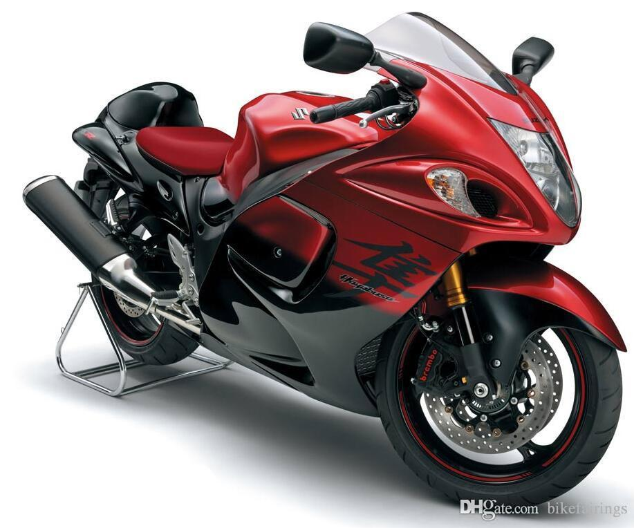 4 Free Gifts New Hot ABS Plastic Motorbike Fairing Kits 100% Fit For Suzuki GSXR1300 Hayabusa 08 09 10 11 12 13 14 15 GSX R1300 Red Black Canada 2019 From ...