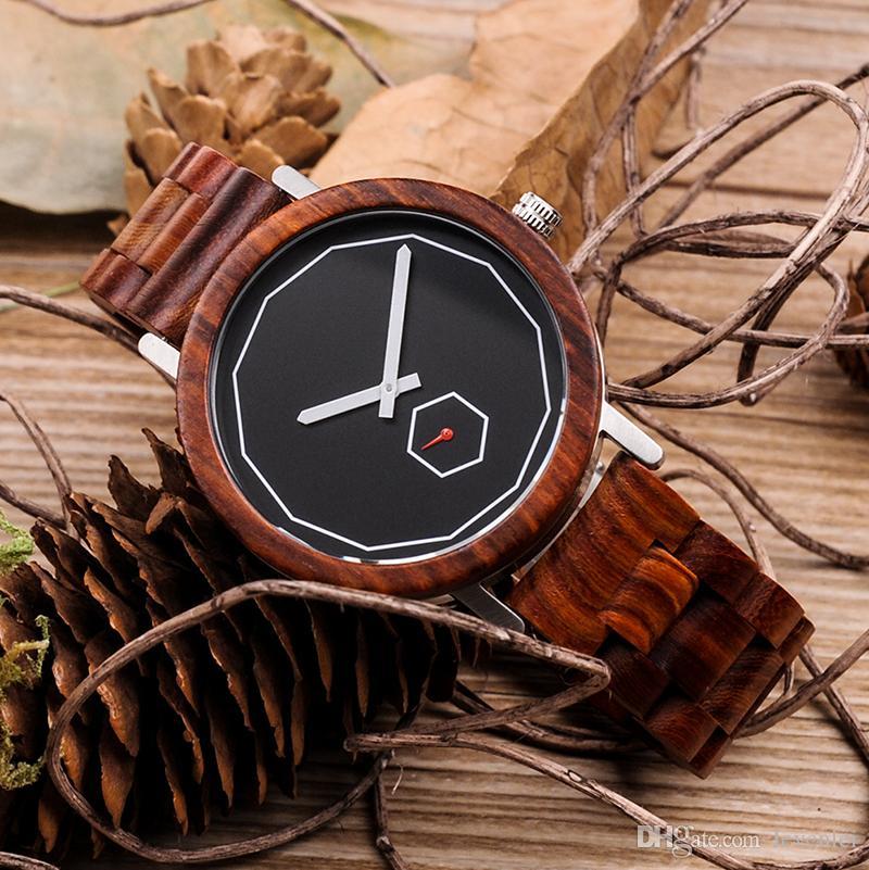BOBO BIRD M29 Orologi in legno Top Brand orologi da uomo di lusso con cinturino in legno di sandalo rosso Reloje Hombre come miglior regalo gli amanti e gli amici