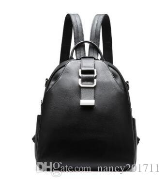 97760f485 2018 new Fashion Genuine Leather Women's backpack bag school bag handbags  shoulder purse top quality free shipping