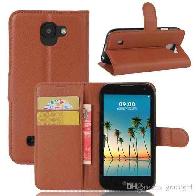 Colorful Litchi Wallet Leather Pouch For LG 2017 K3 K8 K10 LV3 MS210 Aristo ZTE Blade A602 Flip Card Stand Phone Gel Soft Skin Cover