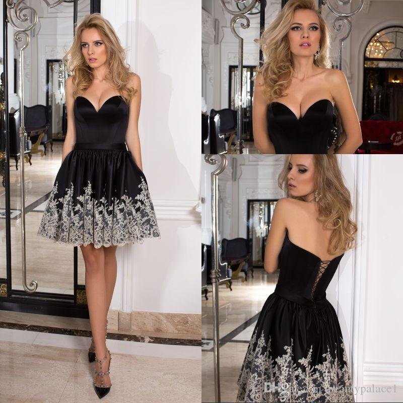 be8898fcc8d6 Sexy Design Ball Gown Sweetheart Mini Short Cocktail Party Dresses Black  Satin Lace Up Most Popular Cheap Cocktail Dresses Sleeveless Shop Cocktail  Dresses ...