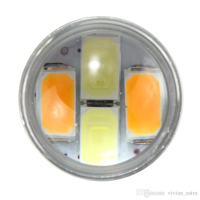 3,1W caliente T25 3157 22SMD 5630 del coche LED de color dual de alta potencia Ámbar / lente de la conmutación blanco con lente señal de vuelta de la lámpara DRL Aparcamiento Bulbos