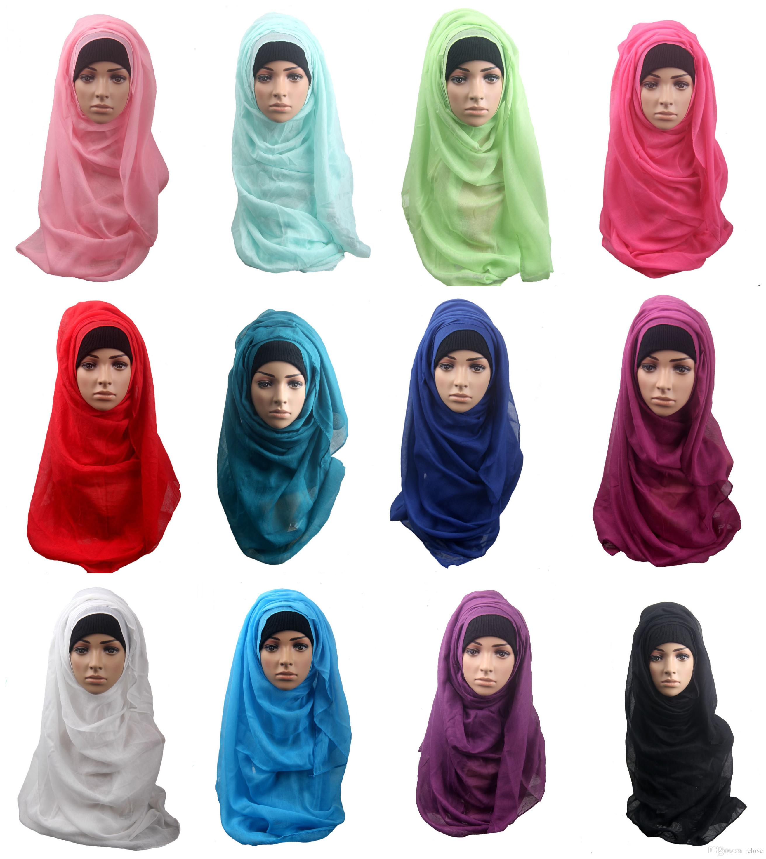 Pretty Baby Shawls And Scarves Solid Plain Hijab Scarf Women Wraps Foulard  Viscosecotton Maxi Shawls Soft Long Islamic Muslim Scarves Hijabs Clothes  ... 186b54d436c