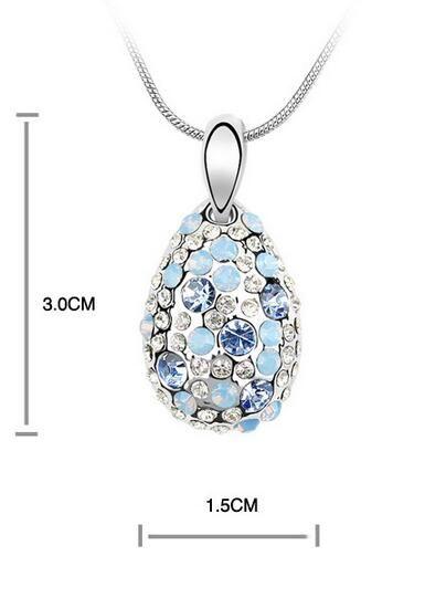 2017 новый 1000SE качество товаров женщина Кристалл ожерелье цикламен высокого класса кулон украшения Оптовая продажа ювелирных изделий