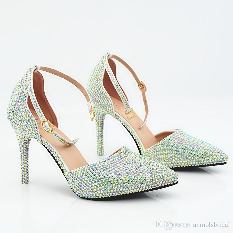Pointed Toe Sexy Prom Evening Shoes Cinderella Shoes Hand-made Sandals Nigh club Party Shoes with Buckle Straps Wholesale 209