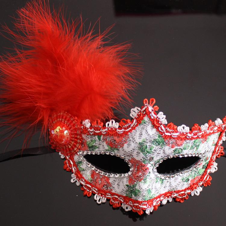 Sexy Venetian Lace feather eye mask beautiful princess party performances Halloween masquerade masks party mask nightclub mask