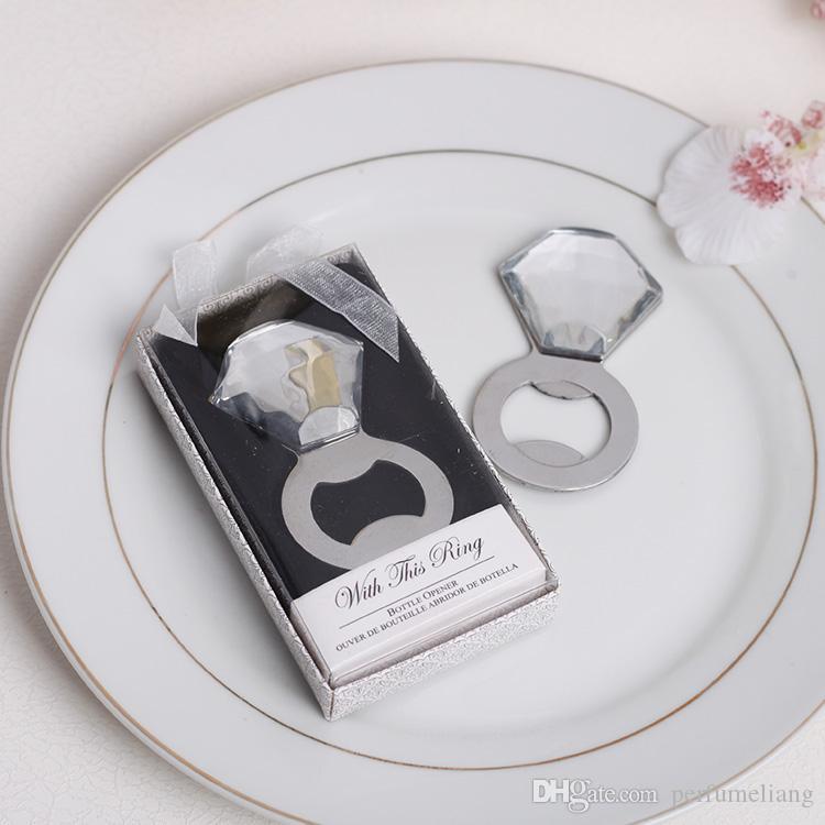 Décapsuleur créatif cadeau marié Décapsuleur anneau de mariage Décapsuleur bague en diamant Cadeaux pour invités S201767