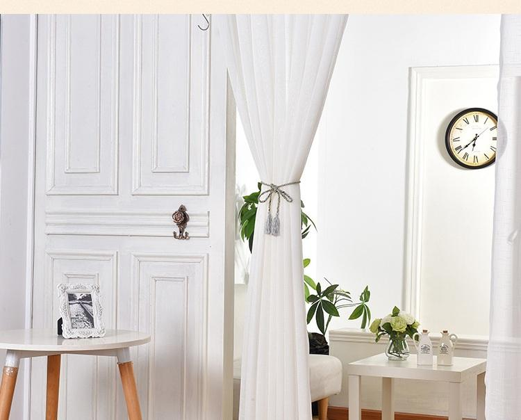 Elegant Pure White Window Sheer Curtains Voile For Living Room Bedroom Dust Proof Translucent Fabric Wholesale Price Free Ship Curtain Priscilla