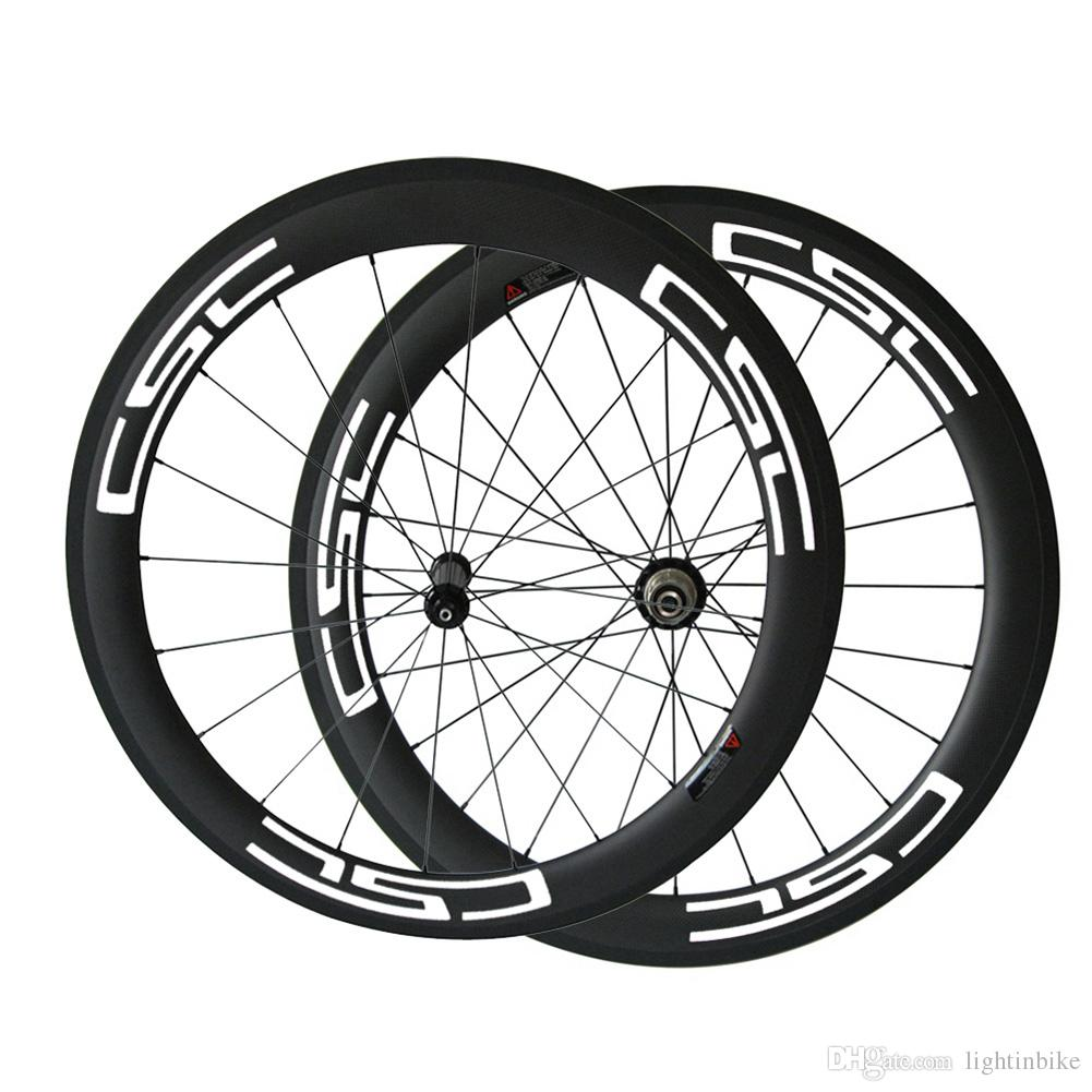 700C Full Carbon 60mm wheels width 23mm carbon clincher 700C road bike wheels Bicycle wheel Straight Pull Powerway R36 carbon wheels