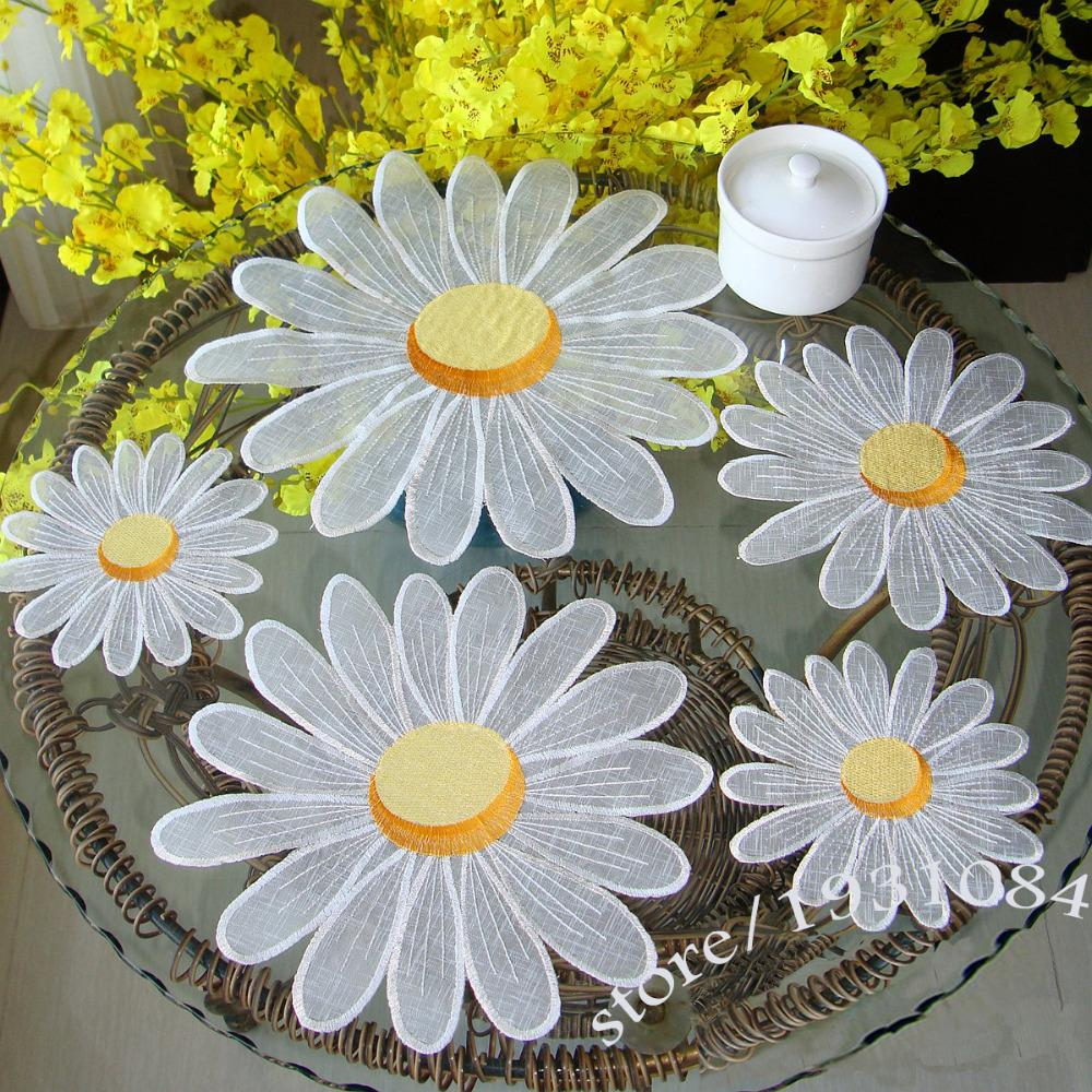 Online cheap wholesale daisy table mat pads embroidered tablecloths online cheap wholesale daisy table mat pads embroidered tablecloths coffee table towel cover towel placemats decor by sakuna dhgate izmirmasajfo