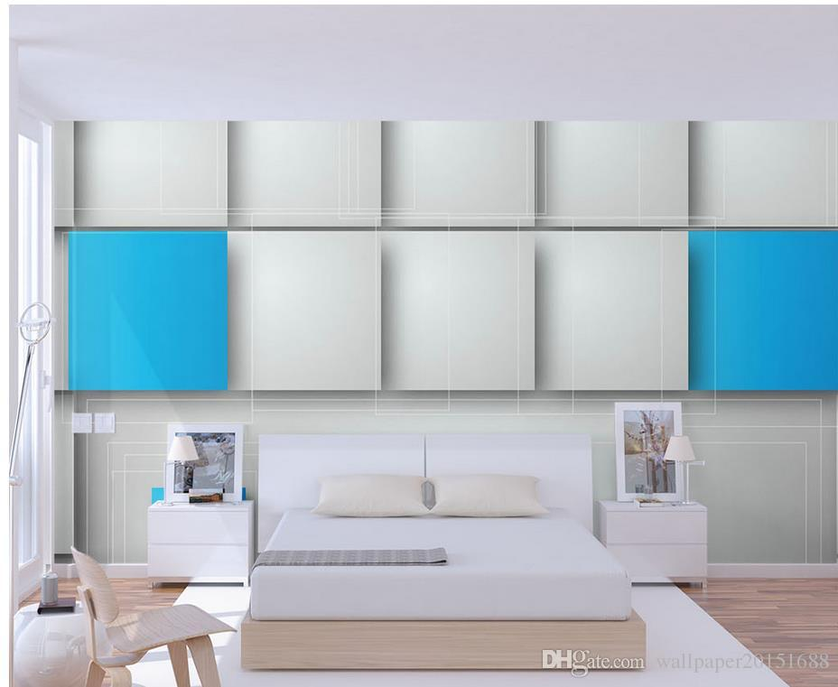 Classic Home Decor Modern simple box 3D stereo wallpaper wallpaper for walls 3 d for living room