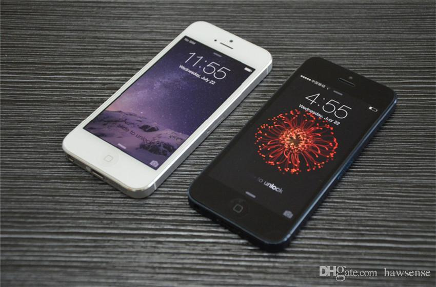 Remodelado Original Apple iPhone 5 16 GB / 32 GB / 64 GB 4.0 polegada Dual Core 1G RAM IOS8 3G 8MP 1080 P Desbloqueado Móvel Telefone Inteligente Livre DHL