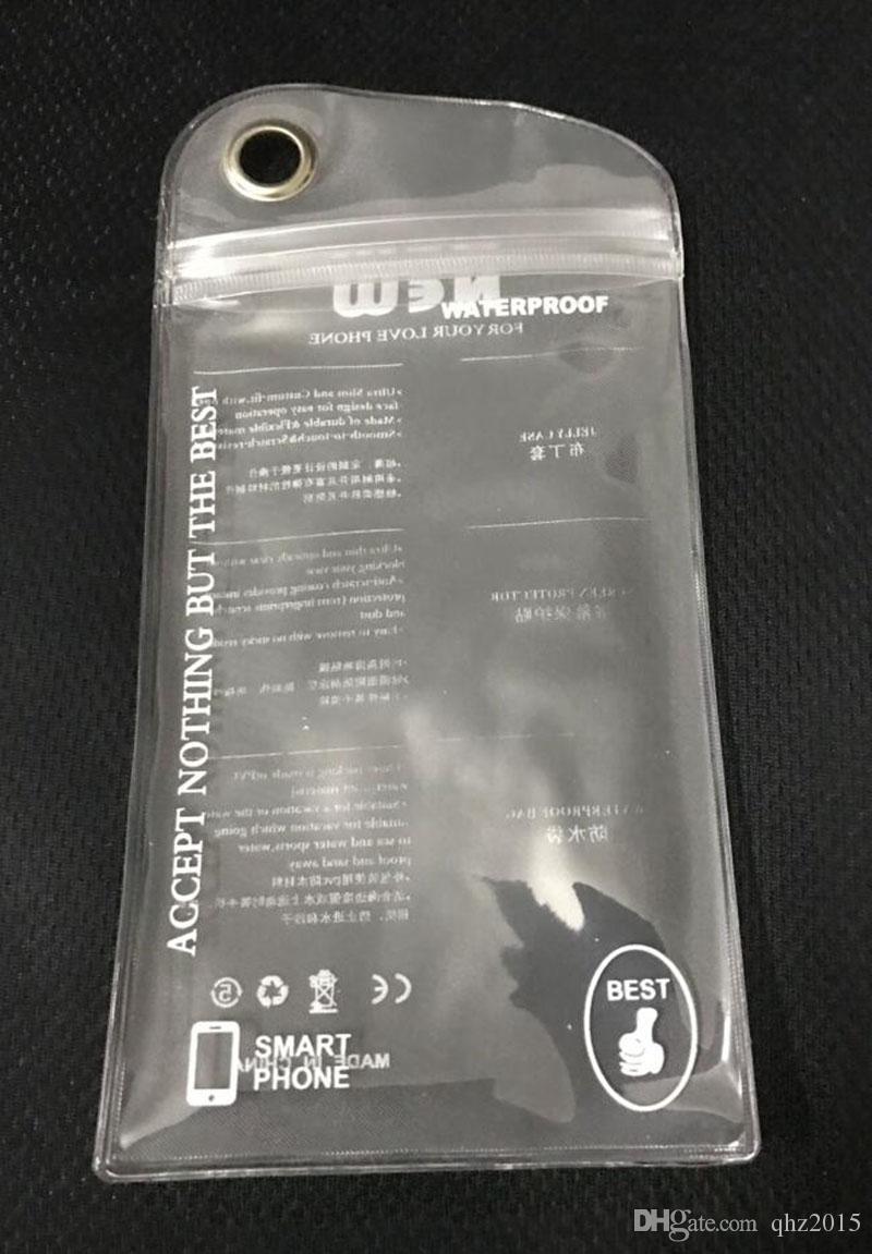 10 * 20 cm confezione al minuto poli cerniera impermeabile sacchetto di imballaggio in pvc galaxy S7 s6 s5 iphone6s morbida custodia rigida