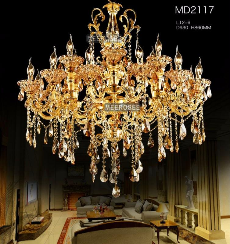 Large gold crystal chandelier lighting big cristal lustres light large gold crystal chandelier lighting big cristal lustres light fixture chandelier crystal for hotel project md2117 chandelier shade glass chandelier aloadofball Gallery