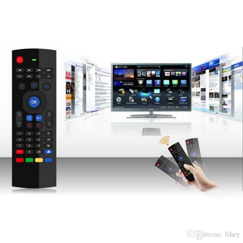 Teclado X8 Air Fly mouse MX3 2.4GHz Wireless Remote Control Somatosensory IR Aprendizagem 6 Axis para S905X T95X MXQ PRO